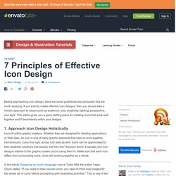 7 Principles of Effective Icon Design