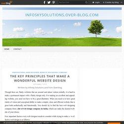 The Key Principles That Make A Wonderful Website Design - infoskysolutions.over-blog.com