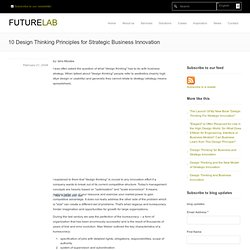 10 Design Thinking Principles for Strategic Business Innovation
