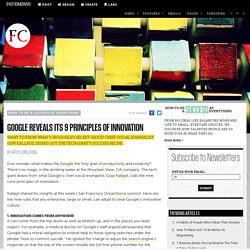 Google Reveals Its 9 Principles of Innovation | Fast Company | Business + Innovation