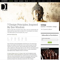7 Design Principles, Inspired By Zen Wisdom