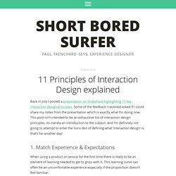 11 Principles of Interaction Design explained