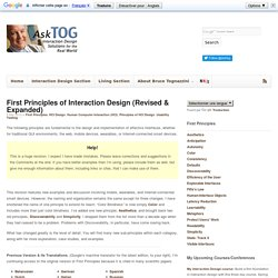 First Principles of Interaction Design