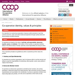 Co-operative identity, values & principles