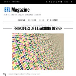 Principles of e-Learning Design