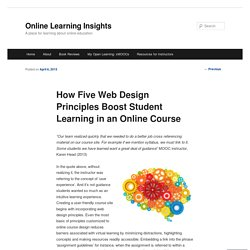 How Five Web Design Principles Boost Student Learning in an Online Course