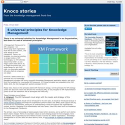 5 universal principles for Knowledge Management