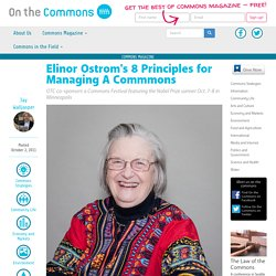 8 Principles for Managing A Commmons
