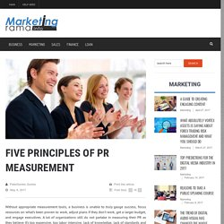 Five Principles of PR Measurement