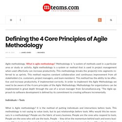 Defining the 4 Core Principles of Agile Methodology