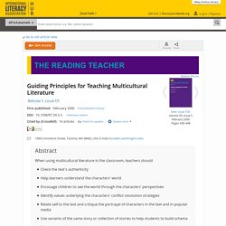 Guiding Principles for Teaching Multicultural Literature - Louie - 2006 - The Reading Teacher