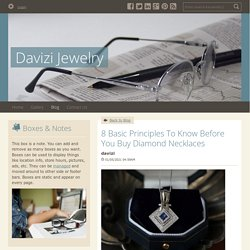 8 Basic Principles To Know Before You Buy Diamond Necklaces - Davizi Jewelry : powered by Doodlekit
