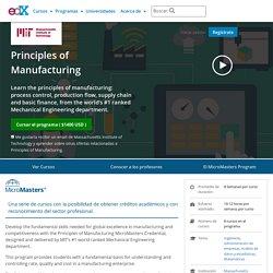 Principles of Manufacturing