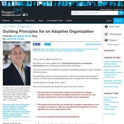 Guiding Principles for an Adaptive Organization