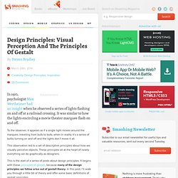 Design Principles: Visual Perception And The Principles Of Gestalt