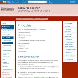 Principles / RTLB Practice / Professional practice / Home - Resource Teacher: Learning and Behaviour