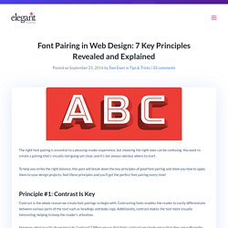 Font Pairing in Web Design: 7 Key Principles Revealed and Explained