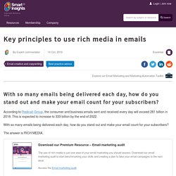 Key principles to use rich media in emails