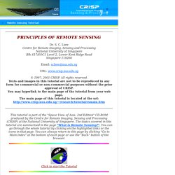 Principles of Remote Sensing - Centre for Remote Imaging, Sensing and Processing, CRISP