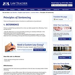 Principles of Sentencing | English Legal System | Law Teacher