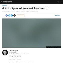 4 Principles of Servant Leadership