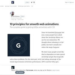 10 principles for smooth web animations
