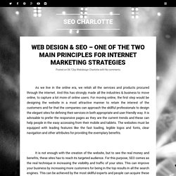 Web design & SEO – One of the Two Main Principles for Internet Marketing Strategies ~ SEO Charlotte