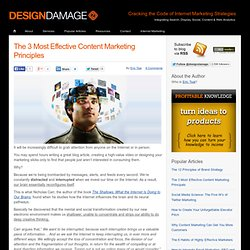 The 3 Most Effective Content Marketing Principles | Designdamage Blog