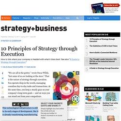 10 Principles of Strategy through Execution