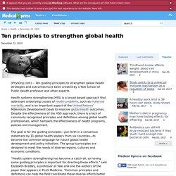 Ten principles to strengthen global health