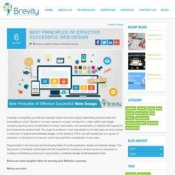 Best Principles of Effective Successful Web Design