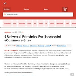 5 Universal Principles For Successful eCommerce-Sites | How-To | Smashing Magazine