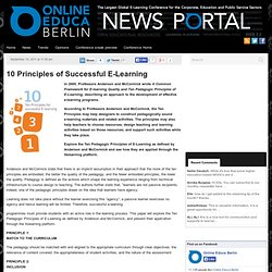10 Principles of Successful E-Learning | OEB Newsportal