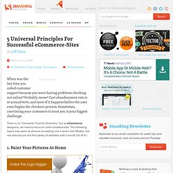 5 Universal Principles For Successful eCommerce-Sites | How-To