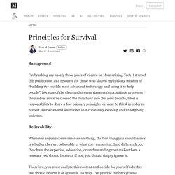 Principios para la supervivencia - Humanizing Tech