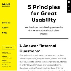 5 Principles for Great Usability