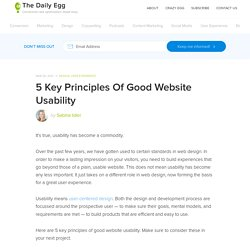 5 Key Principles Of Good Website Usability