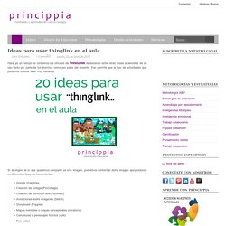 Ideas para usar thinglink en el aula