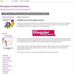 GLOGSTER: Crea tu póster digital interactivo