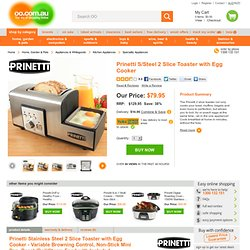 Prinetti 2 Slice Toaster with Egg Cooker