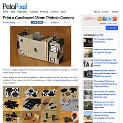 Print a Cardboard 35mm Pinhole Camera