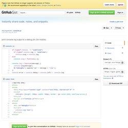 print console.log output to a debug div (for mobile)