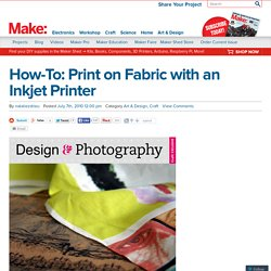 Print on Fabric with an Inkjet Printer