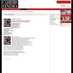 Print the Legend - Cahiers du Cinéma
