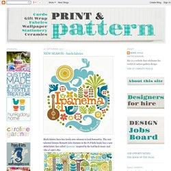 print & pattern: NEW SEASON - birch fabrics
