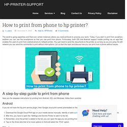 How to print from phone to hp printer?