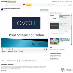 Print Screenshot Online With Ovoli