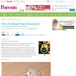Print It: Simple Paper Ornaments