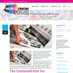 PRINT TRENDS TO WATCH OUT FOR IN 2020