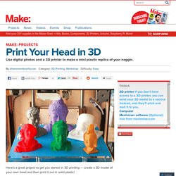 Print Your Head in 3D
